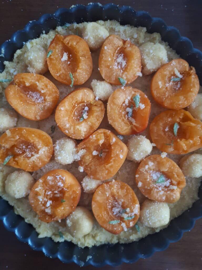 Preparazione crostata di albicocche