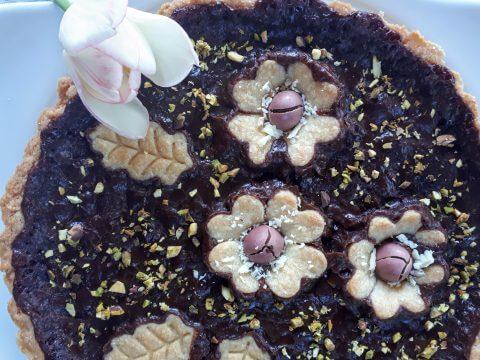Crostata al cioccolato misto