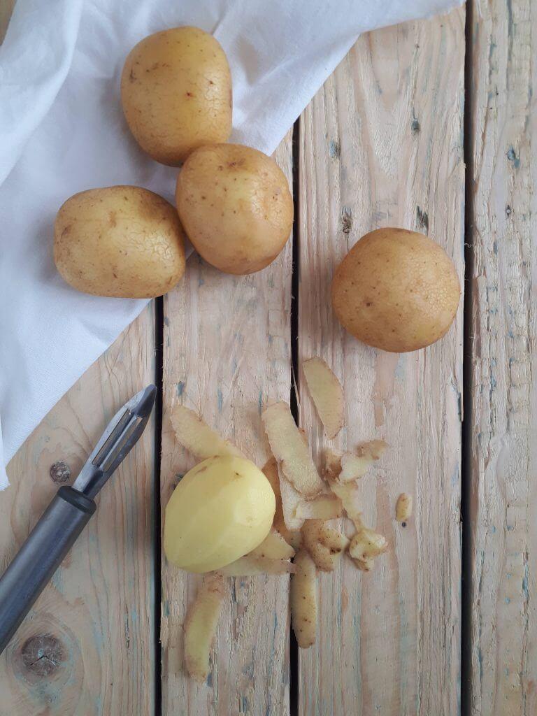 Tortilla di patate ai fiori di girasole